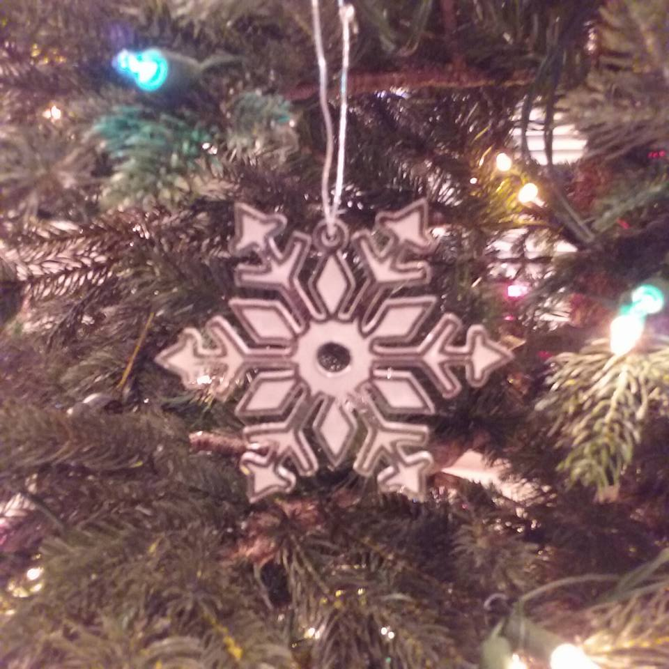 Acrylic Snowflake Holiday Ornament